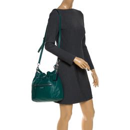 Coach Green Leather Daisy Drawstring Crossbody Bag 287719