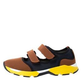 Marni Multicolor Neoprene and Mesh Scarpa Cutout Sneakers Size 37 287771