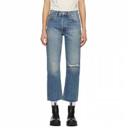 Re/Done Blue 90s Loose Straight Jeans 140-3WLSTR