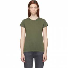 Rag&Bone Khaki The Slub T-Shirt WCC20ST034CH34-GRAPEL
