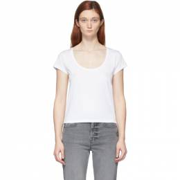 Frame White Le High Rise Scoop T-Shirt LWTS1075