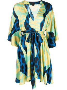 Just Cavalli платье с графичным принтом и поясом S02CT0994N39437