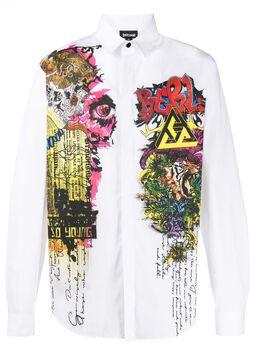 Just Cavalli рубашка с принтом граффити S01DL0270N38909