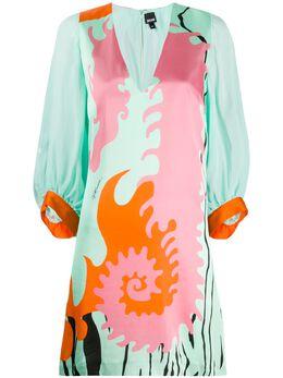 Just Cavalli платье со сплошным принтом S04CT0987N39506