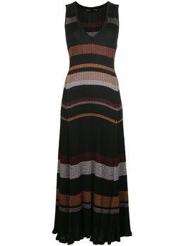 Proenza Schouler трикотажное платье с узором зигзаг R2037481KY195