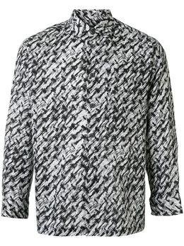 Issey Miyake Pre-Owned рубашка с абстрактным принтом ME33FJ203
