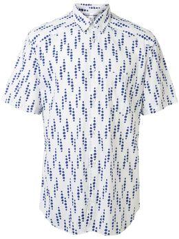 Comme Des Garcons Pre-Owned рубашка с узором в точку BLUEDOTSHIRT