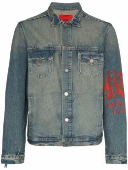 424 джинсовая куртка с молнией 424CAW180002INDGRED