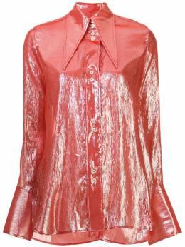 Ellery рубашка с заостренным воротником и эффектом металлик 20RT231LM