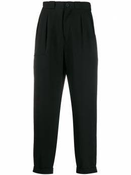 Yohji Yamamoto брюки со складками HNP361002