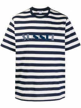 Sunnei полосатая футболка с логотипом MH01ECR01
