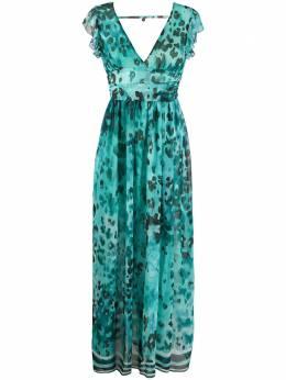 Liu Jo платье с оборками на рукавах и принтом IA0157T2361