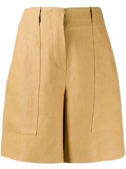 Loro Piana шорты с завышенной талией и вставками FAL0703D02I