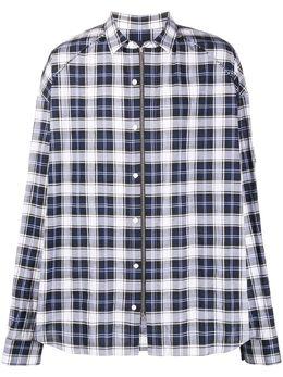 Juun.J клетчатая рубашка на молнии JC0264P11