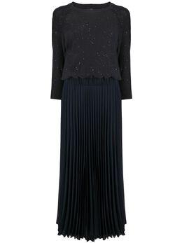 Peserico платье макси с открытыми плечами S82046F05P9297C