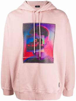 Marcelo Burlon County Of Milan BUMPER CAR OVER HOODIE DUST PINK MULTICO CMBB040F19B36023A888