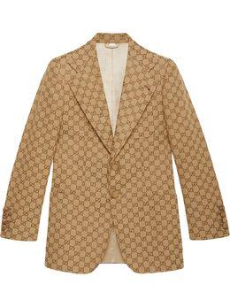 Gucci однобортный пиджак с узором GG 563510ZKU09