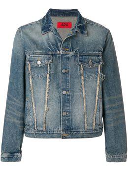 424 джинсовая куртка с бахромой SS180007