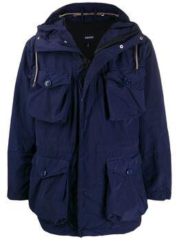 Aspesi куртка с карманами и капюшоном I003F973