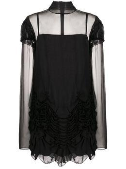 Vera Wang платье со сборками R220D07