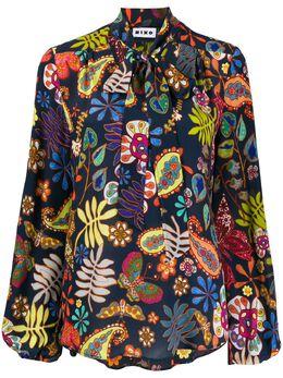 Rixo блузка с принтом пейсли и шарфом RIX30029220765MOSS