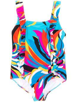 Emilio Pucci Junior купальник с абстрактным принтом 9M0059MC710