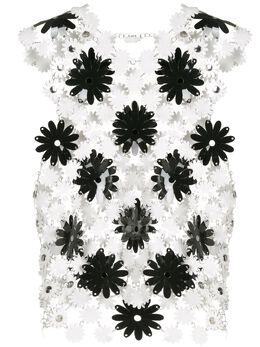 Paco Rabanne топ без рукавов с цветочным узором 20EITO191PS0222