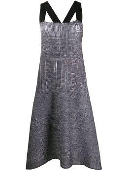 Pierantoniogaspari расклешенное платье с жатым эффектом 1R6305KB1