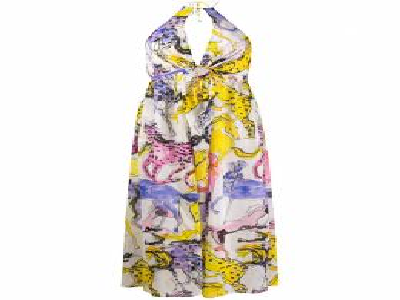 Stella McCartney платье с вырезом халтер и принтом S7A400830