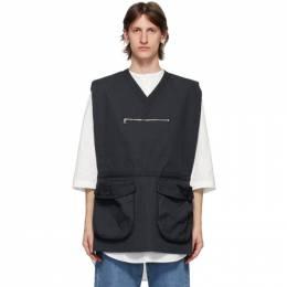 Sunnei Navy Pocket Vest MV01AC501