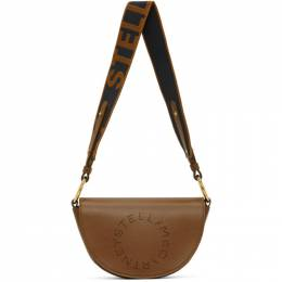Stella McCartney Brown Alter Nappa Marlee Logo Bag 700083W8542