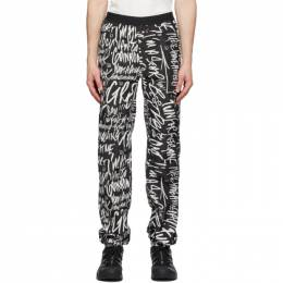 Takahiromiyashita The Soloist Black and White Mickey Mouse Words Trousers sp.0003hSS20