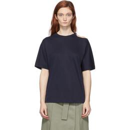 Sportmax Navy Raid Cut-Out T-Shirt 29410108