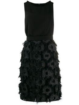 Max Mara платье с отделкой из перьев 12210704600
