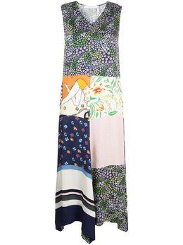 See By Chloe расклешенное платье в технике пэчворк CHS20URO17026