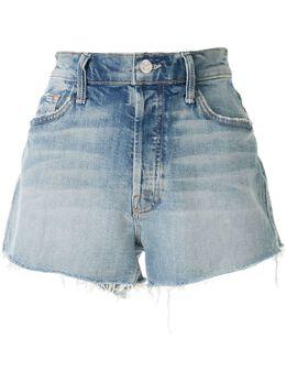 Mother джинсовые шорты с бахромой 4332H259