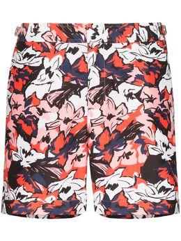 Orlebar Brown плавки-шорты Bulldog South Beach с цветочным принтом 272125