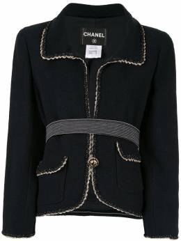 Chanel Pre-Owned жакет с плетеной окантовкой AR129