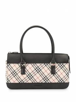 Burberry Pre-Owned сумка-тоут в клетку SQUAREMANDK