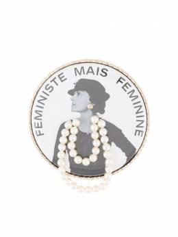 Chanel Pre-Owned брошь Feministe Mais Feminine imitation BA15S