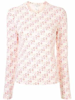 Celine Pre-Owned футболка с длинными рукавами и узором Macadam 234355156