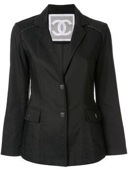 Chanel Pre-Owned жакет с длинными рукавами и логотипом CC 94305
