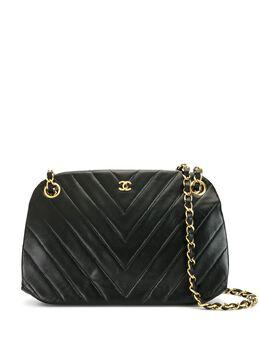 Chanel Pre-Owned стеганая сумка с узором шеврон 1876304
