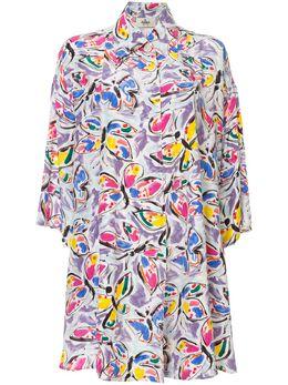 Fendi Pre-Owned платье-рубашка с принтом 7524591