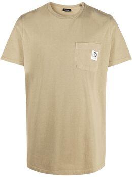 Diesel футболка с нашивкой-логотипом 00SEFC0BAZE