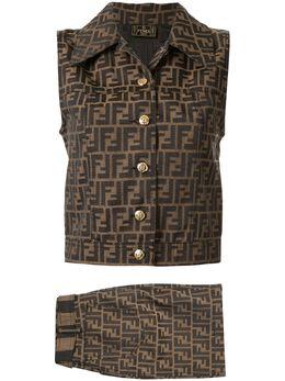 Fendi Pre-Owned юбка и топ с узором Zucca X8