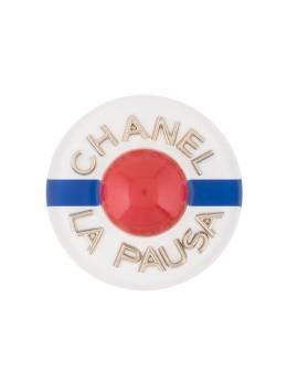 Chanel Pre-Owned брошь La Pausa с логотипом CC BD19C