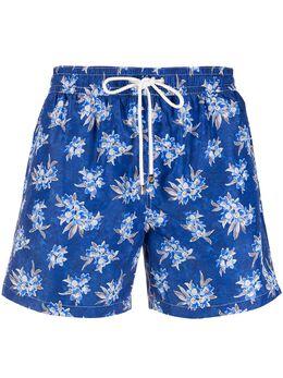 Borrelli плавки-шорты с кулиской и цветочным принтом MB60B9021