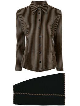 Fendi Pre-Owned комплект из юбки и рубашки в полоску 1053137011044013870