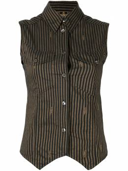 Fendi Pre-Owned полосатая рубашка без рукавов XF
